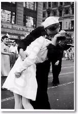 World War II Kiss - Vintage WW2 Famous Photo Art Print POSTER