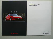Prospekt Toyota MR 2, 4.1994, 16 Seiten + technische Daten/Ausstattung