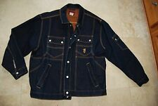 Dark Blue Denim AVIREX Snap Front Jean Jacket 2X