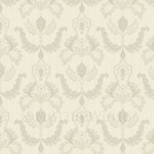Dolls House Miniature Heraldic Style Grey And Cream Design Wallpaper