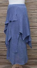 *ZUZA BART*DESIGN HAND MADE PURE LINEN LAYERING AMAZING QUIRKY SKIRT*BLUE*Size M