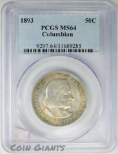 1893 50c Columbian Exposition RPD FS-301 PCGS MS 64 BU Toned Coin Silver Half