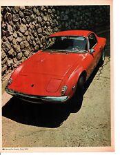 1969 LOTUS ELAN PLUS 2 ~ ORIGINAL 4-PAGE ROAD TEST / ARTICLE / AD