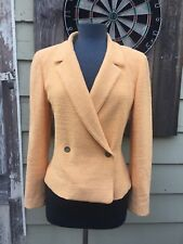 CHANEL 00T Juicy Peachy Melon Boucle Tweed Double Breasted Jacket 40 6 Medium
