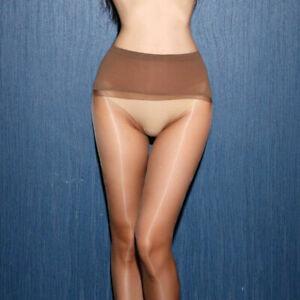 Women's Seamless Shiny Pantyhose Nylon Stockings 1D Ultra-thin Sheer Heel Tights