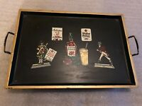 Vintage Johnnie Walker Four Roses Scotch Liquor Advertising Serving Tray Musical