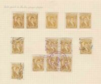 COLOMBIA 1917 STAMPS STUDY ON 1 PAGE MOUNTED MINT & USED  REF 5323