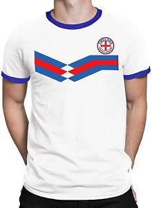 England Retro Strip Football Mens Kids T-Shirt CLEARANCE Present Euro Shipping