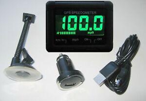 "Mitsugawa 2"" LCD Disp. GPS Wireless Speedometer Speedo Sports Kit Car Motorcycle"