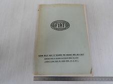 ALBUM PARTI DI RICAMBIO ORIGINALE 1926 CHASSIS FIAT 505F 505