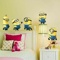 Large 5 Minions Wall stickers Vinyl Decal Removable Kids Art Baby Nursery Decor