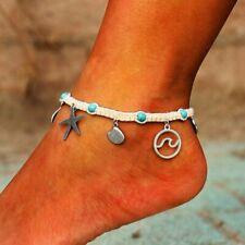 Bracelet Women Chain Ankle Beach Jewelry Fashion Boho Starfish Shell Wave Anklet