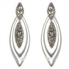 Alexis Bittar Clear Lucite Crystal Deco Marquis Orbiting Post Earrings $298