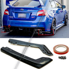 Fit 15-18 WRX STI OE Style Unpainted Rear Spat Apron Valance Lip Splitter Add On