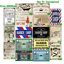Barber Shop Vintage Metal Tin Signs Retro Laundry Plate Art Wall Decor Poster