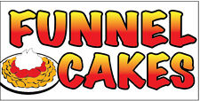 """12x6"""" Food Truck Restaurant Store Sign DECAL STICKER - FUNNEL CAKES"""