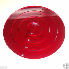 """1 RED 1"""",2"""",3"""",4"""" Circle Template Acrylic Plastic Nested Stencil Quilt Disc USA!"""