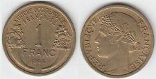 Gertbrolen Afrique Occidentale Française 1 Franc Bronze-Aluminium 1944 Numéro 4