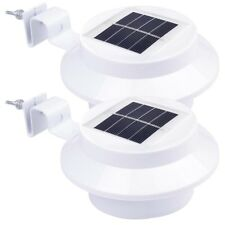 2-Pcs: Solar-Powered Automatic LED Mounted Gutter Night Light Roof Outdoor Yard