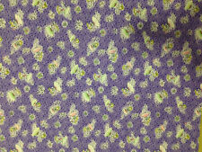 Small star fairy and Butterfly on purple Cotton Quilting Fabric - 1m