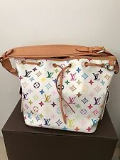 Louis Vuitton Multicolor White Petit Noe Shoulder Bag  Authentic EUC