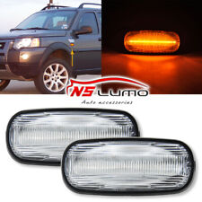 For LAND ROVER DISCOVERY 2 FENDER CLEAR SIDE MARKER REPEATER LIGHT SET XGB100310