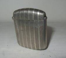 ART deco Pyrogène boîte  allumette ARGENT MASSIF VESTA CASE silver