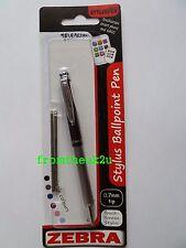 Zebra Telescopic Stylus Ballpoint Pen iPad Tablet Smartphone Black + Black Ink