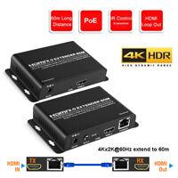 HDMI Extender Ir Poe 60Hz Hdcp 2.2 4K 1080P 3D HDR Über Einzel Kabel 60M