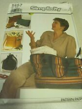 UNCUT SET OF BAGS SIMPLICITY CRAFTS Sewing Pattern # 8657 1988