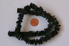 Obsidian-Strang(Dreieck/Scheibe 10x3 mm) J-0096/J