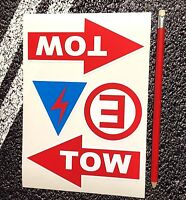 Race Car Electric Extinguisher Tow Arrows Sticker Set of 4 Rally Preparation