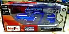 Maisto CUSTOM SHOP 2011 FORD MUSTANG GT BLUE 1:24 Scale Diecast