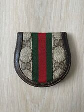 GUCCI Anniversary Collection GG Monogram Vintage Leather Coin Purse Wallet