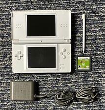 Nintendo DS Lite USG-001 White Handheld System w/ Charger Stylus Bomberman Game