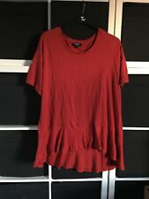 Simply Be Size 16/18 Short Sleeve Orange Top.   (f4)