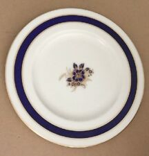 Vintage Lenox 9 Inch Porcelain Plate Cobalt Blue & Gold Free Shipping Included!