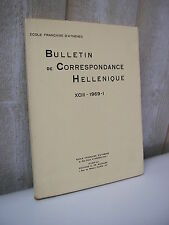 BULLETIN de CORRESPONDANCE HELLENIQUE 1969 Grèce Paléolithique de l'Elide ...