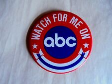 Vintage Watch For Me On ABC Television Network Pinback Button