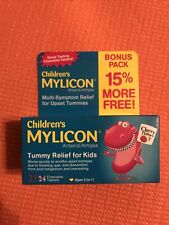 Children's Mylicon Antacid Tummy Relief Tablets for Kids Cherry 28Ct Exp 02/22