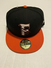 New Era Fresno Grizzlies 59FIFTY Fitted Hat Men's Size: 7 1/2 Black/Orange