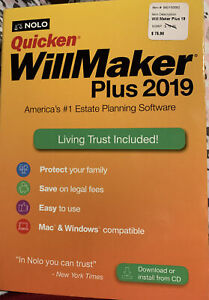 No lo quicken willmaker trust 2019.  Brand New.  Download Or Install From CD.