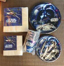 Star Wars Birthday Set Pack Vintage Plates Napkins Cups Party Express Hallmark