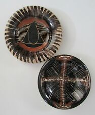 Two Madoura Picasso Style Hand Made Pottery Dishes by Suzanne Ramie 1940's/50's