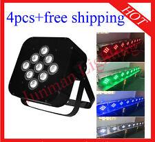 4pcs 9*10W RGBW 4 in 1 Flat Led Par Light Led DJ Stage Par64 Light Free Shipping