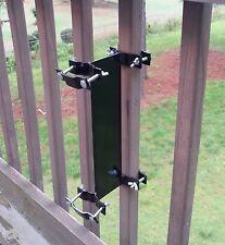 Umbrella Mount Universal Flag Pole Clamp Upright Patio Deck Railing Fence Torch