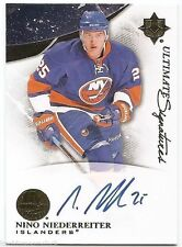 10/11 UD ULTIMATE COLLECTION SIGNATURES AUTOGRAPH Nino Niederreiter #USNN