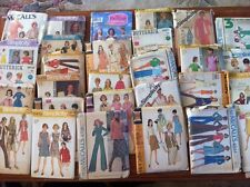 Sewing Pattern Lot Of 29 1960's - 80's Vintage McCall's, Butterick, Simplicity