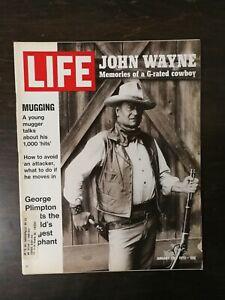 Life Magazine January 28, 1972 - John Wayne - George Plimpton - Saigon - Ads - S