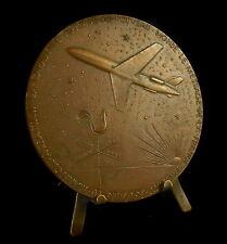 Médaille L'avion à réaction la Caravelle aviation plane par joly 81 mm Medal